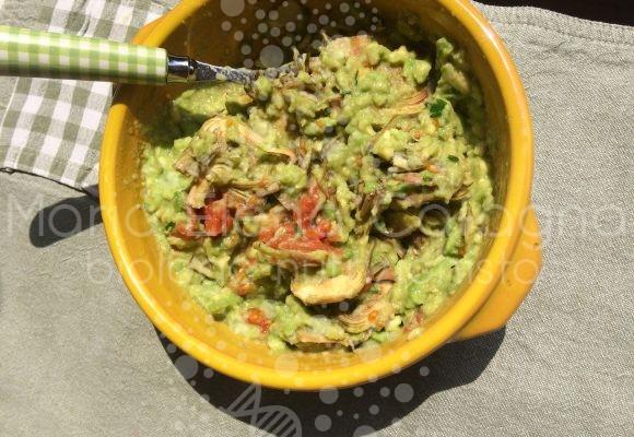 Cuori di carciofo in salsa guacamole